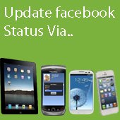 facebook status via any device