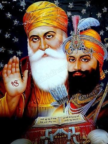 guru nanak dev ji and guru gobind singh ji   PunjabiDharti.Com
