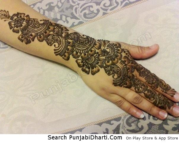 Arm Mehndi Images : Mehndi on arm punjabidharti