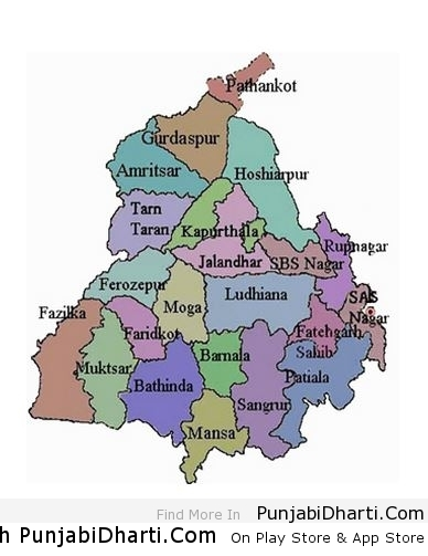Map Of Punjab India