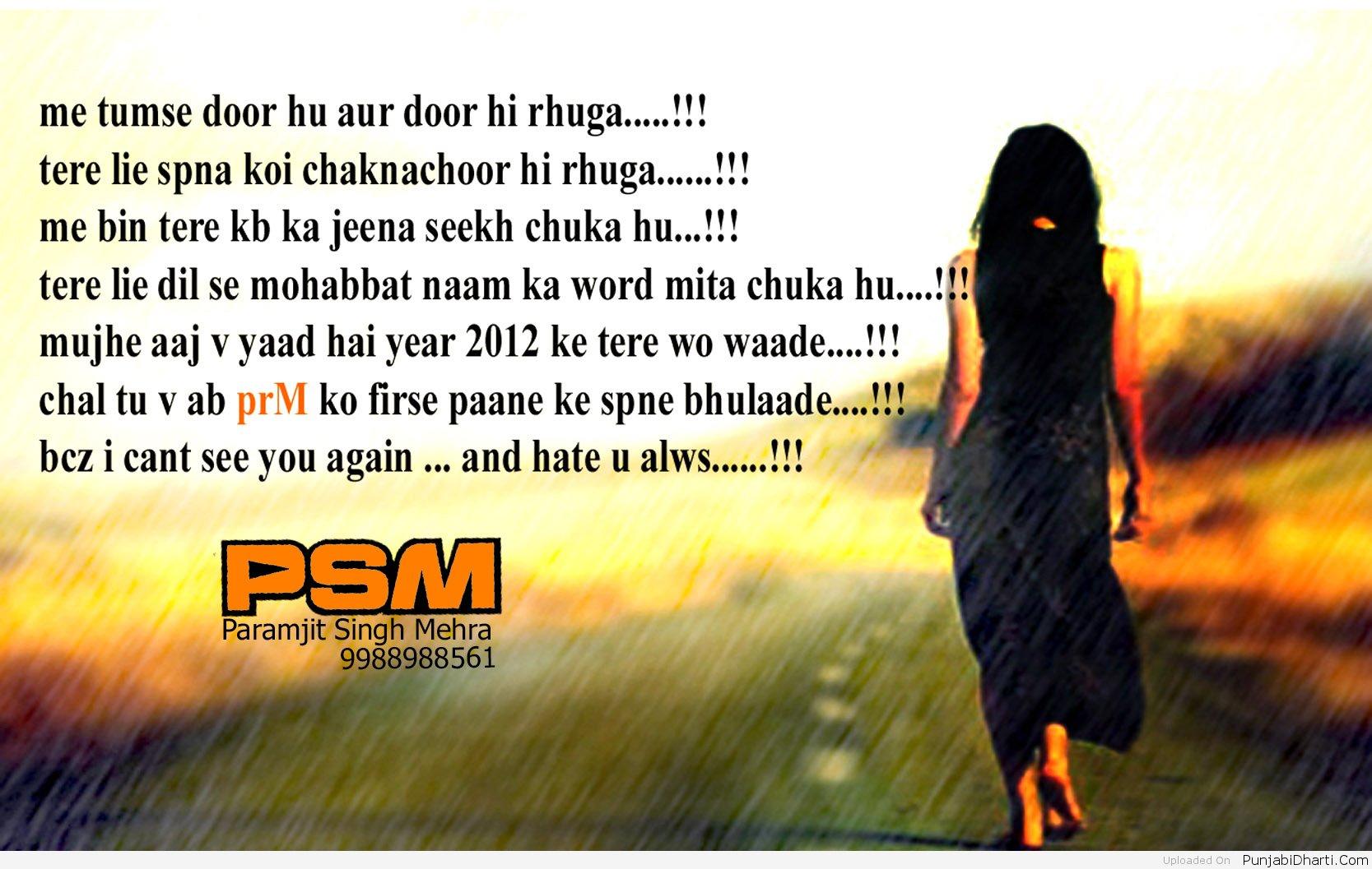 hate u hindi status